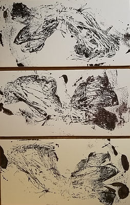 peinture encre de chine sur carton plume