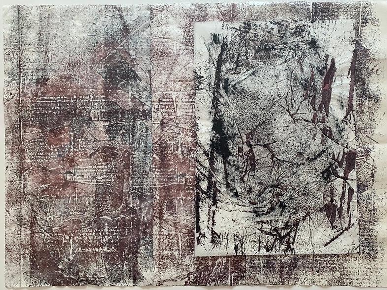 tressage encres sur papier