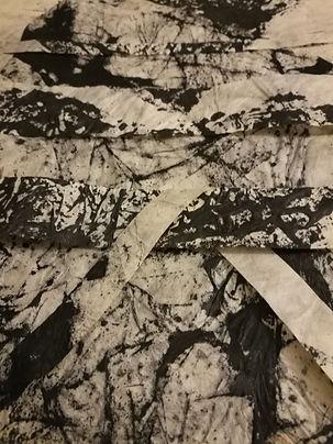 encre de chine sur papier lokta
