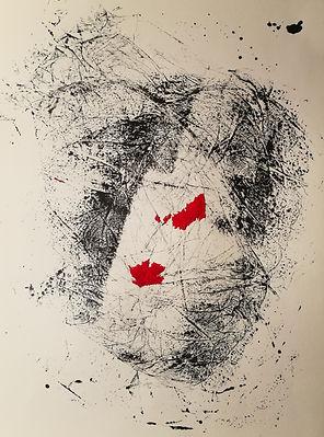 peinture encre de chine sur papier