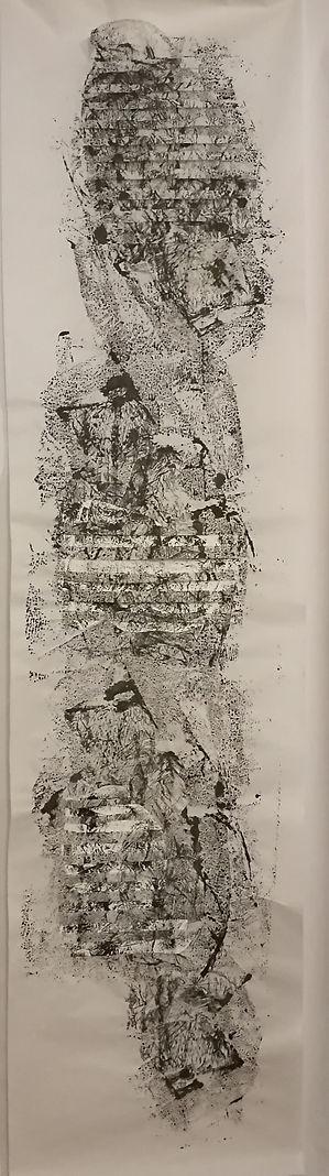 tressage papier encre de chine