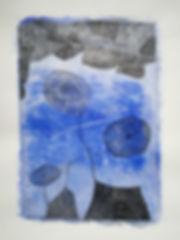 Broderie bleue et noire