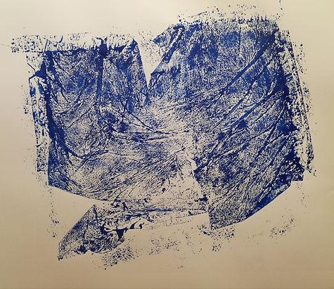 empreinte encre sur papier. 65x50 cm.