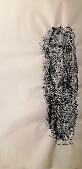 encre de chine sur papier de riz. 70x34 cm.