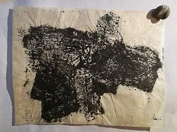 encre de chine sur papier lokta. 40x30 cm.