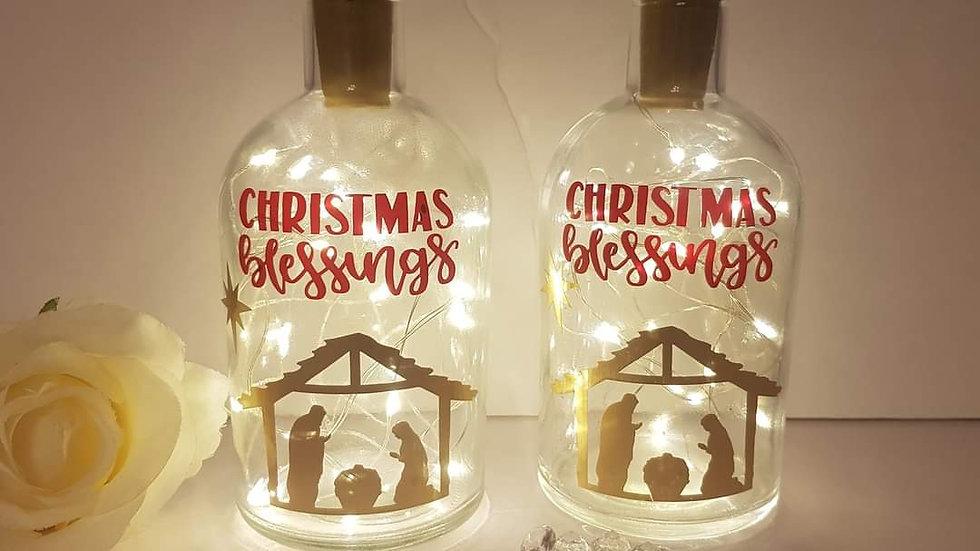 Christmas Nativity Light up Bottle