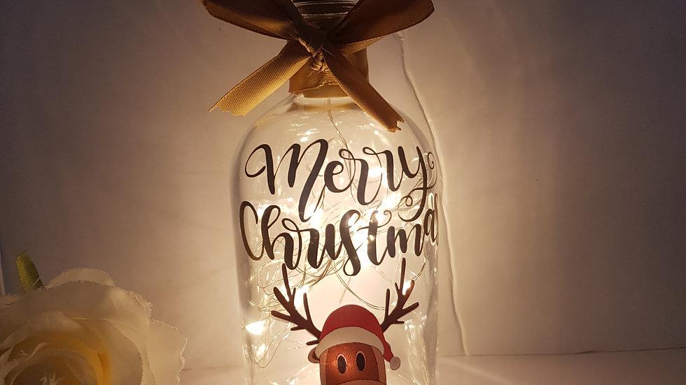 Christmas Light up Bottle