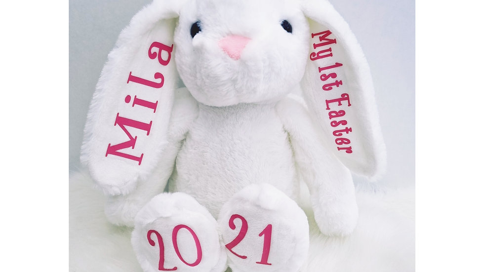 Personalised Plush Soft Toy Easter Bunny Rabbit