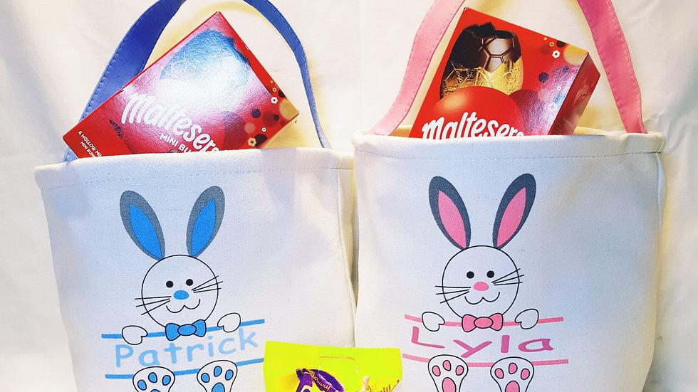 Personalised Large Easter Egg Bag Basket