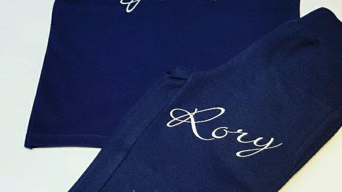 Short Sleeve Signature Name T-shirt & Joggers
