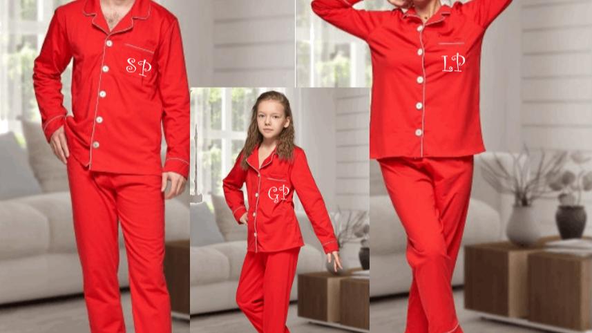 Family button up Christmas Pyjamas