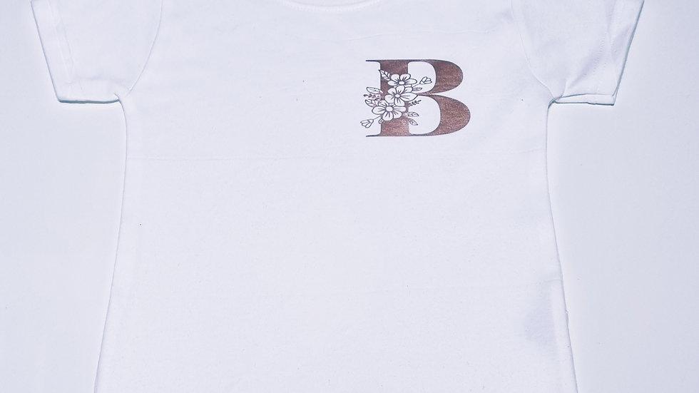 Girls Initial T-shirt