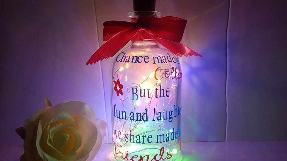Colleague light up bottles