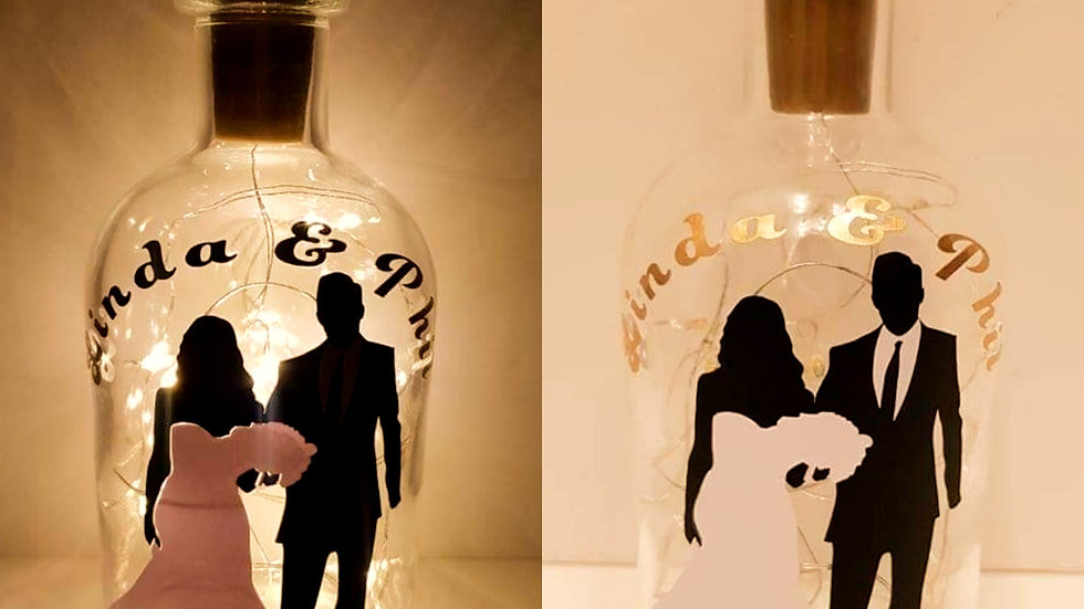 Wedding and Anniversary Light Up Bottle