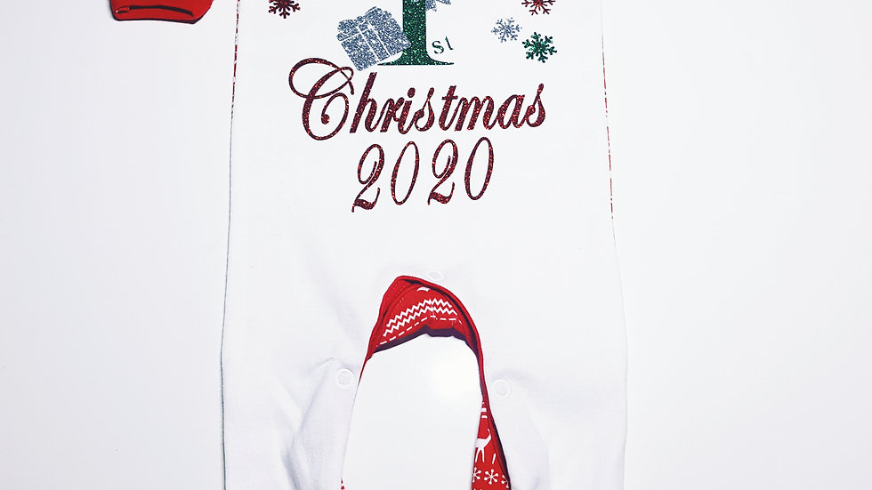 First Christmas Red Sleepsuit