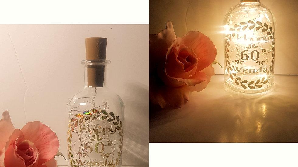 Customised Light Up Bottle