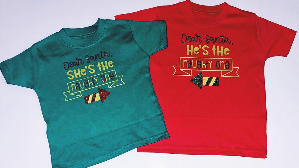 Naughty Santa Christmas T-shirt