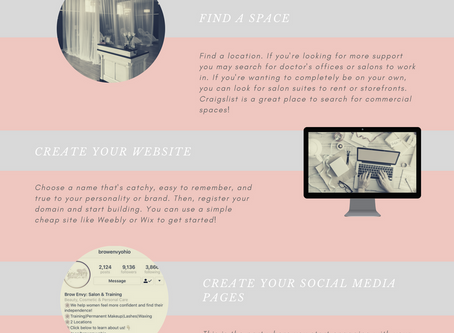 Guide To Starting Your Microblading Business (infographic)