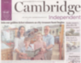 Camb Independent Front Page 2nd Article.