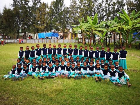 I bambini della scuola Montessori Blein