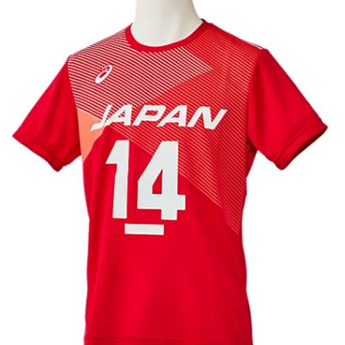 JAPAN National Team T-Shirt #14 ISHIKAWA (Asics)