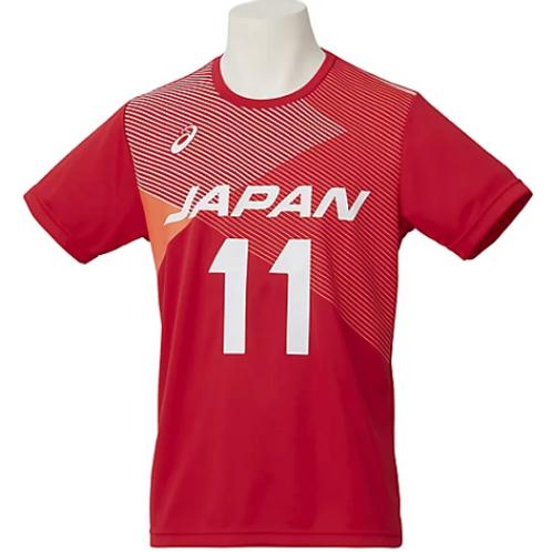 JAPAN National Team T-Shirt #11 NISHIDA (Asics)