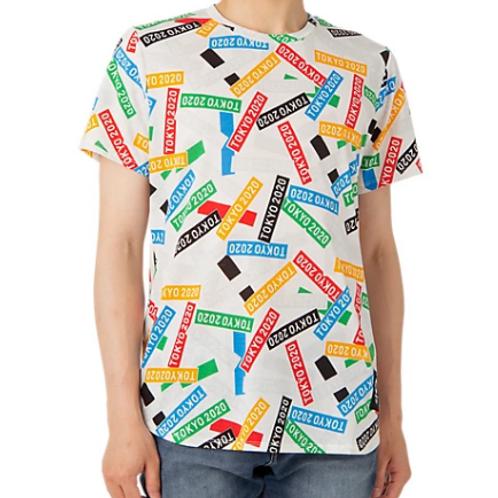 【Asics】Tokyo 2020 Olympics Emblem T-Shirt Multi Crossing