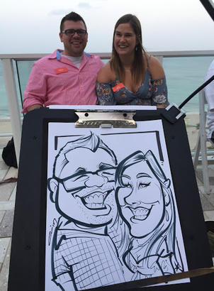 Traditional Wedding Caricatures - Pop To