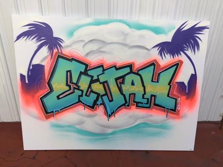 Elijah's Graffiti Canvas Guest Book
