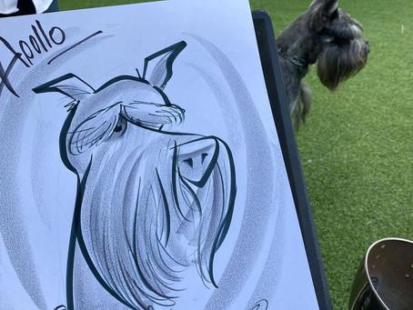 Pet Dog Caricatures at Loews Miami Beach Hotel