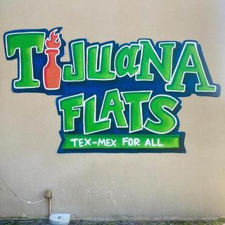 Tijuana Flats Graffiti and Pop Art Painted Logo