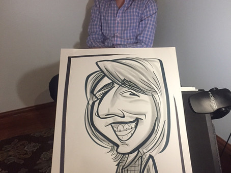 Caricature Artist At Casual Bar Mitzvah