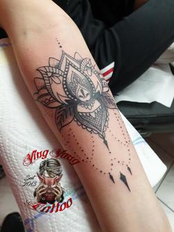 Mandala Tattoo, Unterarm
