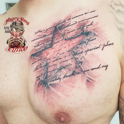 Stern Tattoo Stein Optik