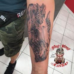 Dragon / Drachen kopf Tattoo