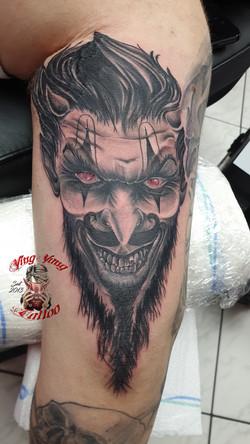 Chicano Style Tattoo Devil