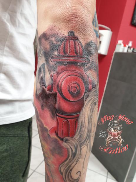 Feuerwehr , Feuerwehr Hydrant