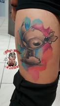 Ab geheiltes watercoloer tattoo Stitch von John
