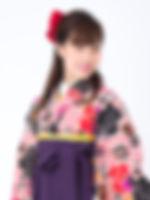 小振袖(小紋柄)+袴スタイル