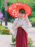 オリジナルレトロ着物+袴スタイル