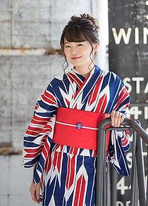 紺×赤矢羽