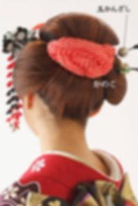 日本髪風に使う髪飾り