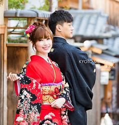 photo album extérieur kimono souvenirs yumeyakata kyoto gion arashiyama sakura automne temple