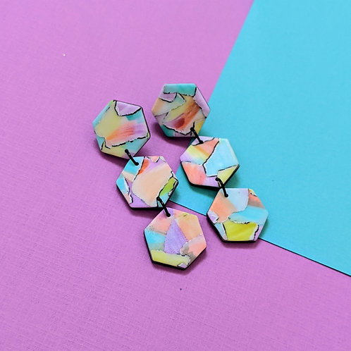 Ocean Sunset- Hexagon Drop