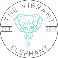 The Vibrant Elephant Logo