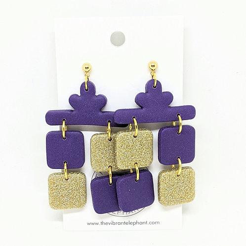 Naughty or Nice - Gold & Purple