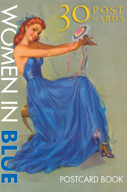 Women in Blue Postcard Book