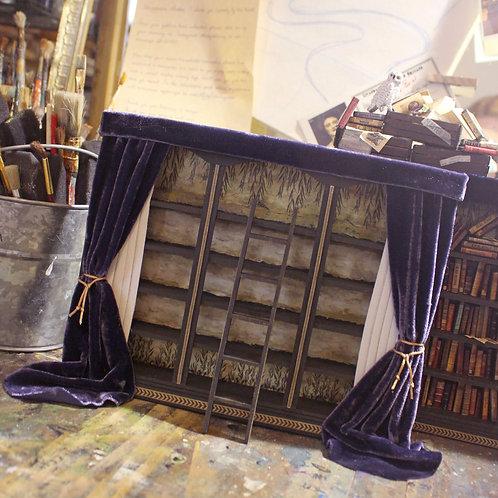 Miniature Library of Forgotten Books Bookshelf & Ladder
