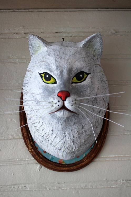 Lady Griddlebones Faux Trophy Cat Mount