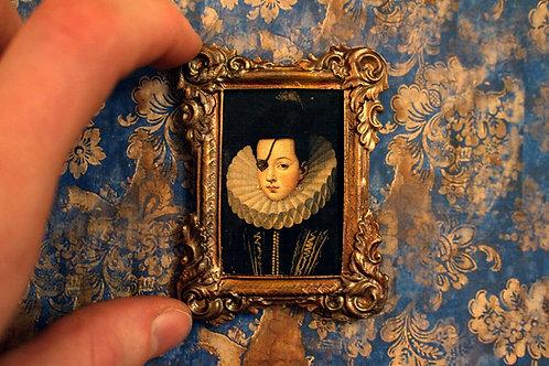 Framed Miniature Painting - One-Eyed Mendoza